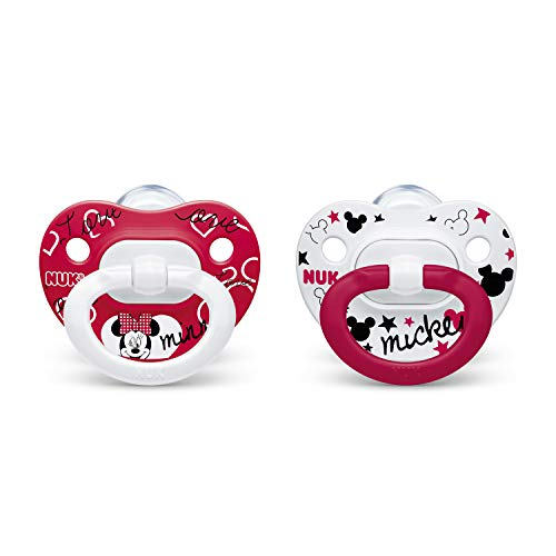 NUK Disney Minnie Mouse Orthodontic Pacifiers, 6-18 Months, 2-Pack