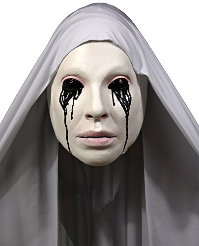 Latex Nun Costume (Halloween Mask- Asylum Nun Mask -Scary Mask)