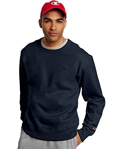 Champion Men's Powerblend Fleece Pullover Sweatshirt_Navy_M ()