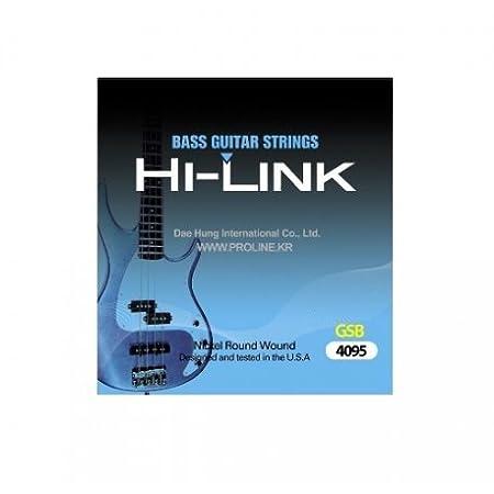 Juego de cuerdas para bajo eléctrico Hi traje Link 4 cuerdas 40/95 ...