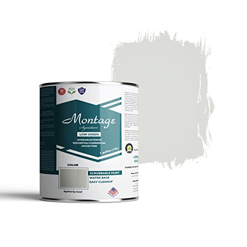Montage Signature Interior/Exterior Eco-Friendly Paint, Pewter - Low Sheen, 1 Gallon