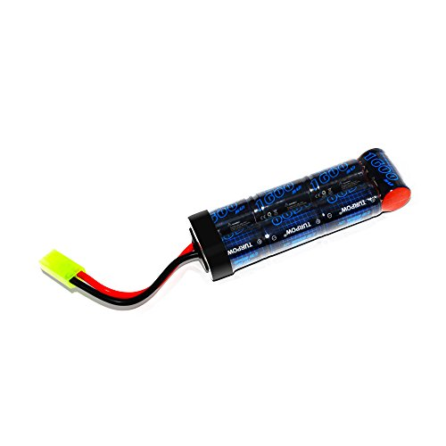 Airsoft Rc Helicopter (8.4V Nimh Tamiya Airsoft Battery-TURPOW 8.4V NiMH Flat RC Battery Pack with Mini Tamiya Female Connector Assembled with 16G Wires)