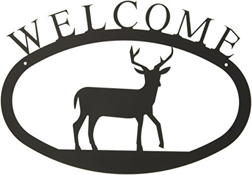 17.5 Inch Deer Welcome Sign Large (Welcome Deer)