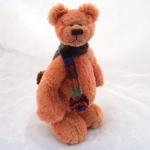 (Brick - Teddy Bear Terracotta Hand Dyed Steiff Schulte Mohair Artist Collectable OOAK 10 inches)