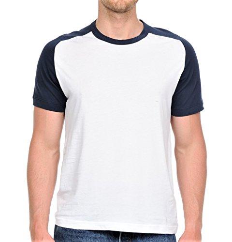 Yuro-K Men's Cotton Raglan Short Sleeve Baseball T-Shirt with Binded Neck (X-Large, ()