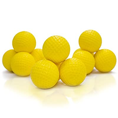 Shaun Webb's PGA, Golf Foam Practice Balls (Pack of 12) Dent Resistant, Long Lasting - Perfect For Home and Office.