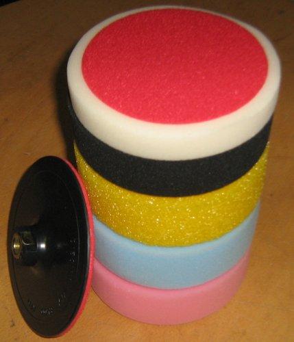 150mm 6 tlg. Polierschwamm Set Poliermaschine Polierset Polierpad K6001-Set