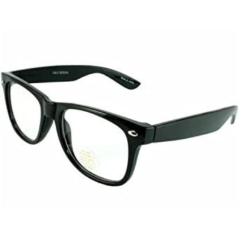 a5118758d6 Image Unavailable. Image not available for. Color  G G Nerd Glasses Buddy  Classic Black Frame Clear Lens