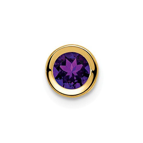 Mia Diamonds 14k Yellow Gold 5mm Amethyst bezel -
