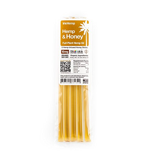 Irie Hemp Organic Clove Honey Sticks - Sustainably Grown, Non-GMO - 5 Pack (10mg Each)