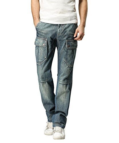 Blue Denim Cargo Jeans - 8