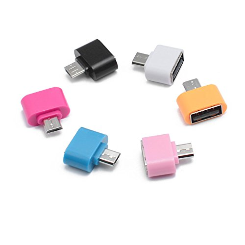 E-Cosmos Stylist Little Adapter Micro USB OTG to USB 2.0 Adapter for Smartphones and Tablets - Set of 3