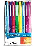 Paper Mate S0977450 Lot de 16 Feutres à Pointe Nylon Flair Pointe Moyenne, Coloris Assortis