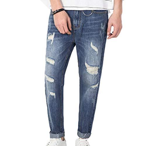 Bobo Jeans Larghi Denim Estilo 88 Pantaloni Casual Elasticizzato Strappati Alsbild Especial Da In Uomo Strappati fqfrgw4