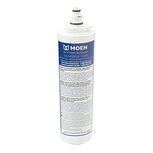 Moen 9601 ChoiceFlo Replacement Water Filter Compatible with Sip Filtered Kitchen Faucets (Pack of 2)