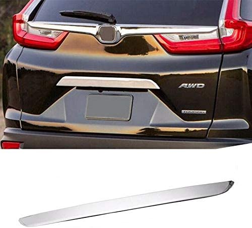 1 Pc Stainless Steel Rear Tailgate Lid Trim Cover Trunk Door Handle Decor Sticker For Honda CR-V 2017-2018 Tapes on back side Self-adhesive Easy to Install Glossy Appearance Stylish Design Waterproof