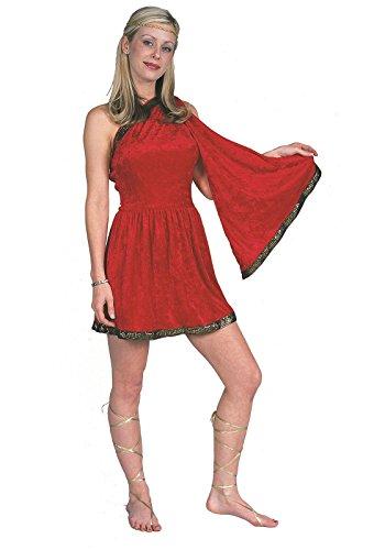 RG Costumes Women's RG Roman Toga Adult Red Medium Costume, 8-10 ()