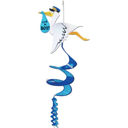 Stork It's A Boy Wind-Spinner Party Accessory (1 count) (Stork Baby Shower Decorations)