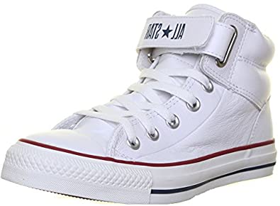 11f2569d6e67 Converse 126126 Unisex Leather Loopback High Top Velcro Strap - Removeable   Amazon.co.uk  Shoes   Bags