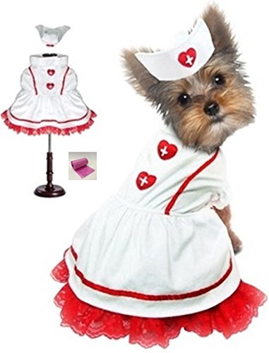Classic-Sweetheart-Nurse-Uniform-and-Hat-Costume-with-bags-set-in-Dog-sizes-XS-thru-L
