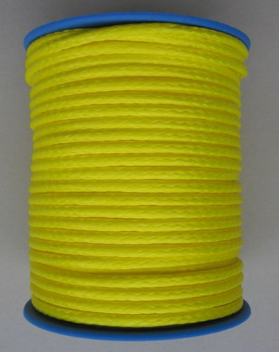 Diametro intrecciata Dyneema 2, 5 mm - 25 Meter federa giallo Gepotex