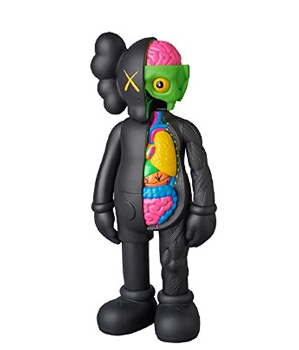 Amazon Com Kaws Companion Black Flayed Open Edition  Art Toy Figure Toys Games