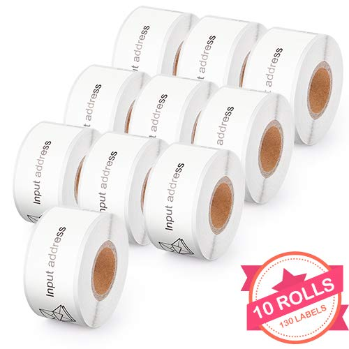 30254 Clear Address Labels - 10 Rolls Compatible with Dymo 30254 Clear Address Labels for Dymo LabalWriter 400 4XL, 1-1/8