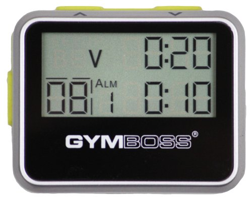 Gymboss Interval Timer and Stopwatch SILVER / YELLOW METALLIC GLOSS