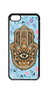 diy case hamsa hand Snap-on Hard Back Case Cover Shell for iphone 4 4s -1278