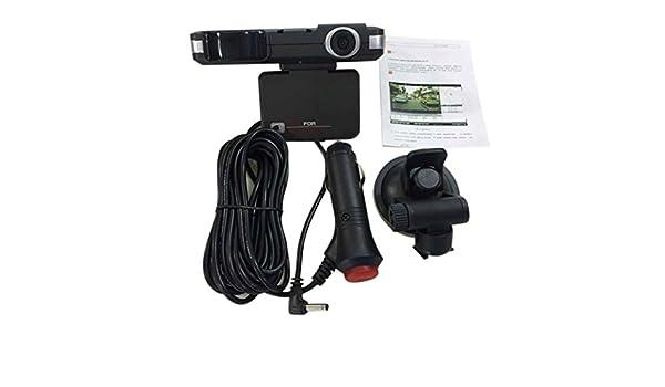 2 en 1 coche cámara DVR Registrator de vídeo y detector de velocidad de Láser Radar, gaddrt G-sensor grabadora: Amazon.es: Deportes y aire libre