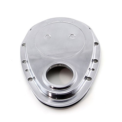 For Small Block Chevy Polished Aluminum Timing Chain Cover 283 305 327 350 SBC