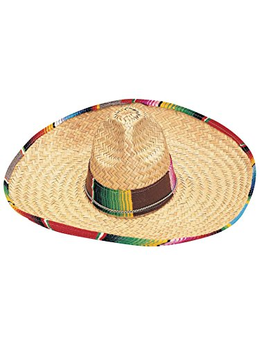 Rubie's Sombrero with Rainbow Serape Edge And Band, Multicolored, One Size