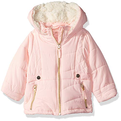 Jessica Simpson Baby Girls Satin Bubble Jacket, Soft Pink, ()