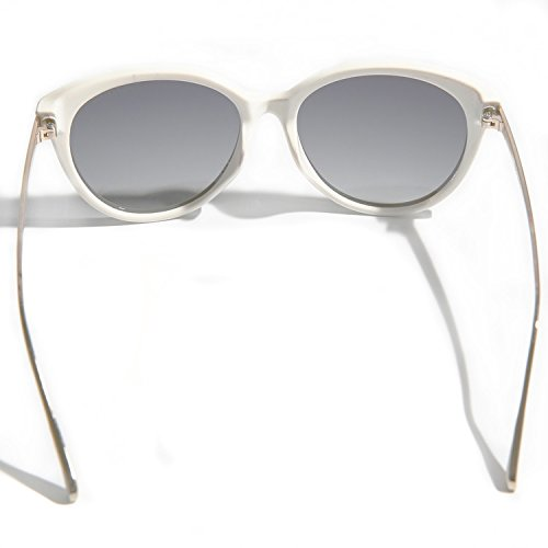 Lens Gray Blue Metal Sunglasses Polarized Vhccirt Sunglasses Blanc Frame Aviator qXfnwgv