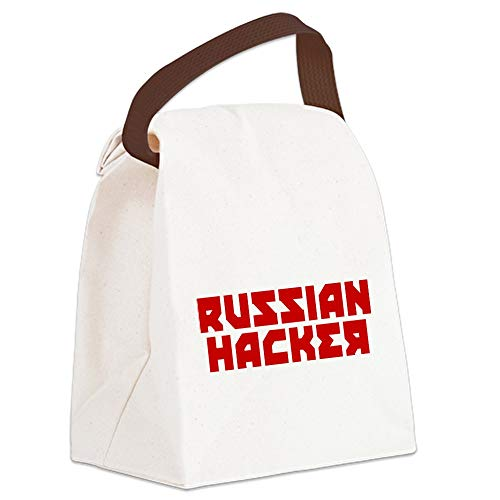 CafePress Russian Hacker Canvas Lunch Bag with Strap Handle]()