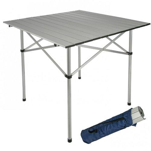 Mesa de jardín (70 x 70 x 70 cm, mesa de camping mesa plegable ...