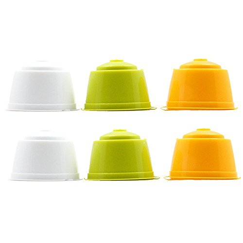 RECAPS Refillable Dolce Gusto Coffee Capsule Reusable More Than 200 Times for Nescafe Dolce Gusto Brewers 6 Pack| Compatible with Mini Me, Genio, Piccolo, Esperta and Circolo