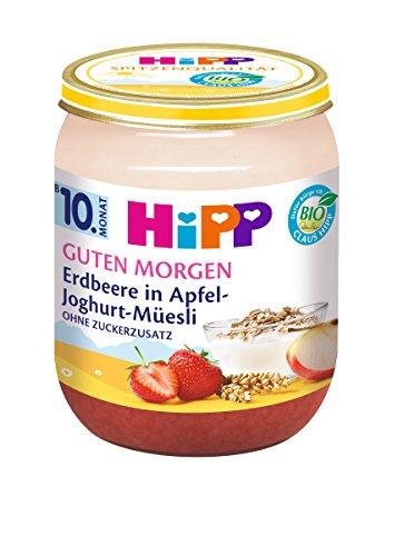 HiPP Erdbeere in Apfel-Joghurt-Müesli, 6er Pack (6 x 160 g) 5400-01 Babynahrung