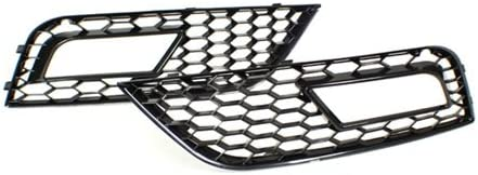 TopPick 8K0807681-8K0807682-85FV Black Open Mesh Grille Grill FOR Audi A4 B8.5 Non-S-Line//Non-S4 2013-2016