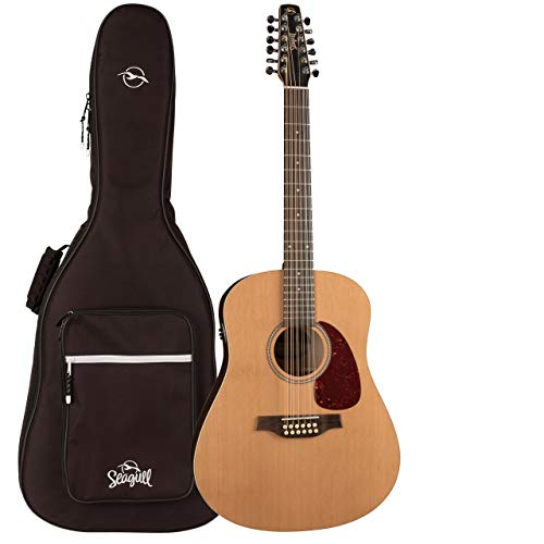 Seagull Coastline Cedar 12 QIT Acoustic Electric Guitar with Gig Bag