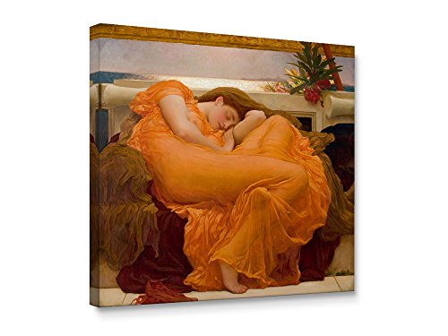 Niwo ART (TM) - Flaming June, Frederic Leighton - Oil Painting Reproduction - Giclee Wall Art for Home Decor,Office or Lobby, Gallery Wrapped, Stretched, Framed Ready to Hang (20