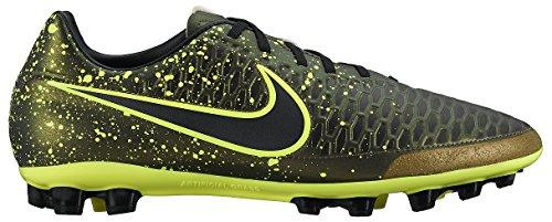 Nike Magist Onda AG-R Herren Fußballschuhe Schwarz / Gelb (Dark Citron / Drk Citron-Blk-VLT)