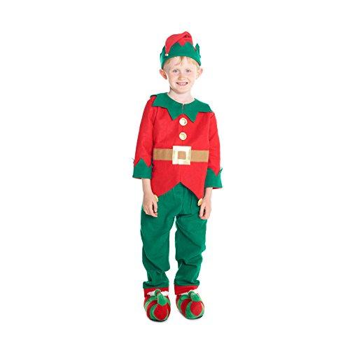 low-cost Niño elfo de taller de juguetes de navidad Disfraz ...