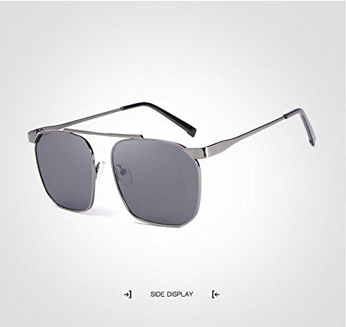 Masculinas Marca de Gafas la JCH clásica Hombres Gray Diseñador la de Viaje de Gafas polarizadas Sol Sol de Gafas de de Vendimia Gafas Sol de piloto Gafas De Gafas UV Z08RZS