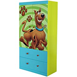 O'Kids Scooby Doo Clothes Closet Wardrobe Armoire with Drawers