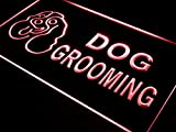ADVPRO Dog Grooming Pet Shop Display LED Neon Sign Red 24'' x 16'' st4s64-i529-r