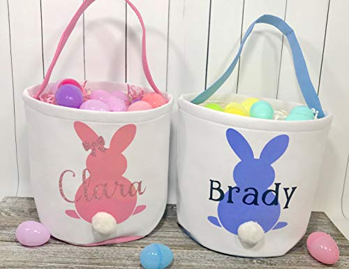 Personalized Easter Basket, Easter Bucket, Girls Easter Basket, Boys Easter Basket, Easter Bag, Easter Bunny, Easter Basket with Name
