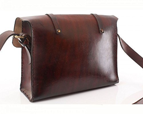 Brown Leather Handmade Messenger Bag