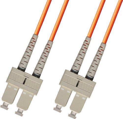 10 Meter OM1 Multimode Duplex Fiber Optic Cable (62.5/125) - SC to SC - Orange