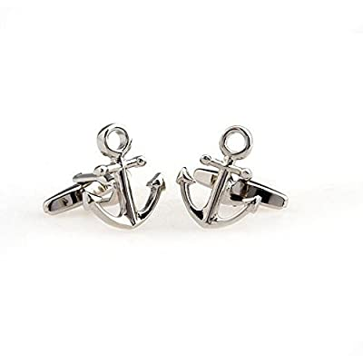SS Anchor Cufflinks for Men Silver Color